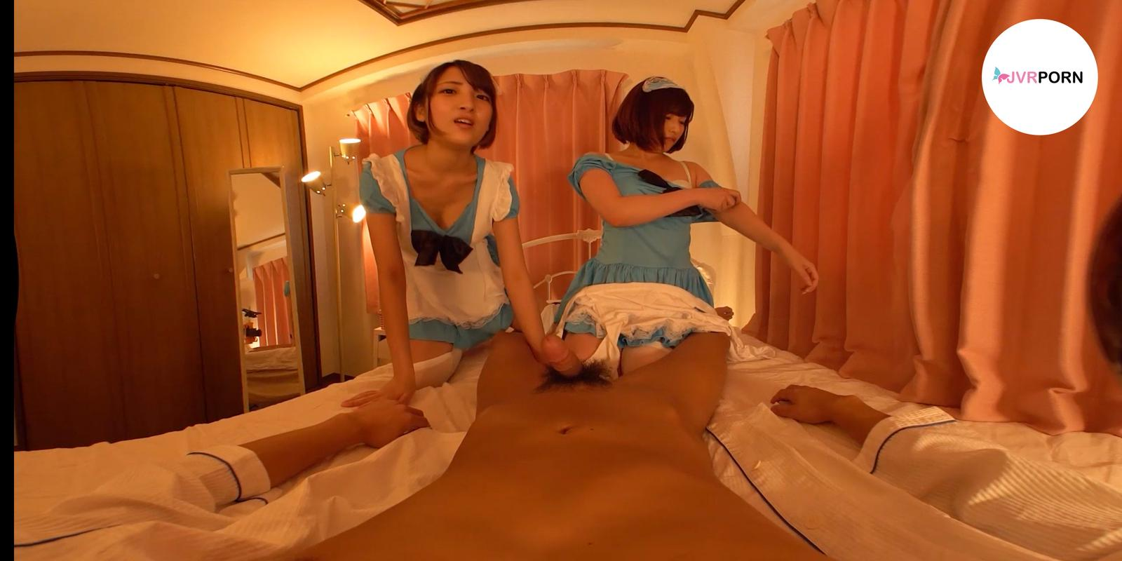 Threesome Creampie Maids | screenshot-0